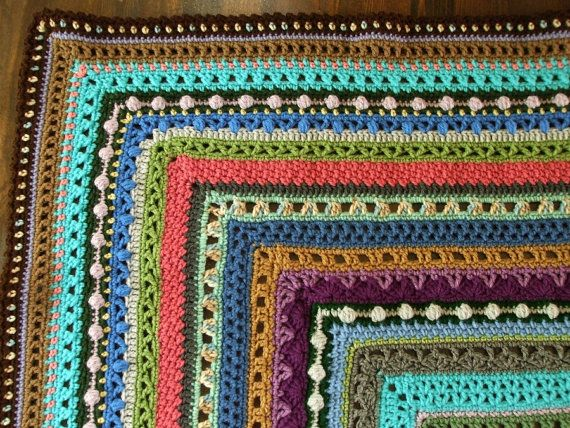 Crochet Stitches Sampler : ... - Stitch Sampler Afghan in Scraps Stitches, Yarns and Blankets