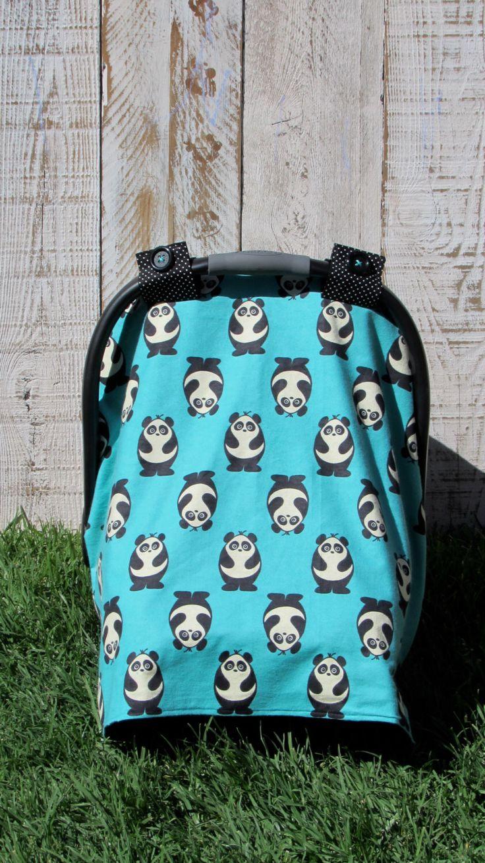 Carseat Canopy Car Seat Cover Tent Pandas Panda Bears