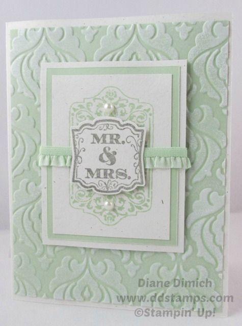 Stampin' Up! Label Love Wedding Card