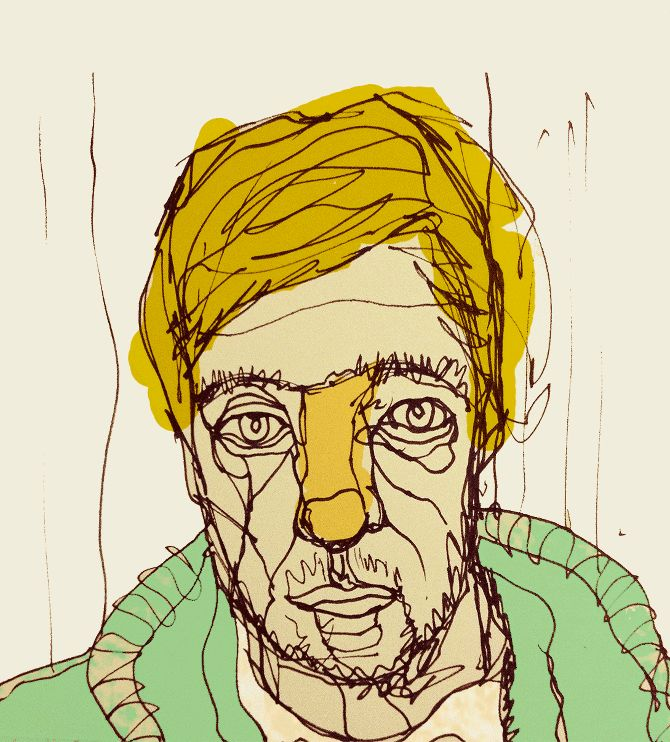 Continuous Contour Line Drawing Definition : Continuous line portrait with colour activities