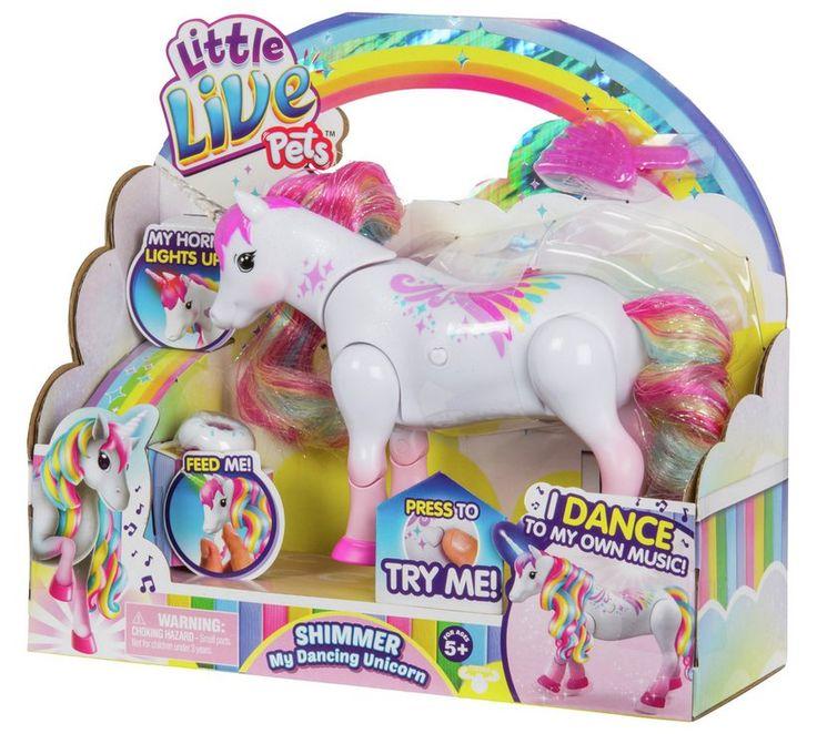 Buy little live pets rainbow unicorn shimmer teddy