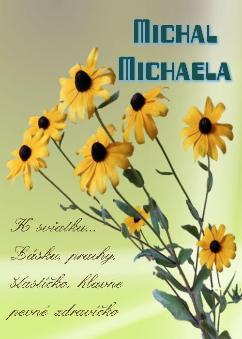 Michal Michaela K sviatku... Lásku, prachy, šťastíčko, hlavne pevné zdravíčko