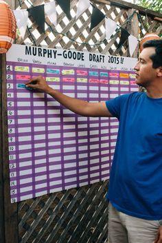 How to Host a Fantasy Football Draft Party #FantasyFootball