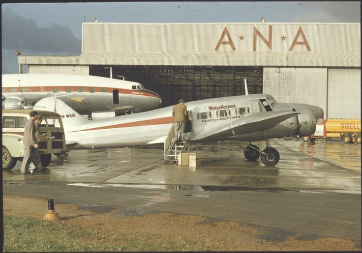145243PD: Avro-Anson plane at Perth Airport, September 1955.  http://encore.slwa.wa.gov.au/iii/encore/record/C__Rb4319590__SLighthouses%20--%20Western%20Australia%20__Ff%3Afacetmediatype%3Av%3Av%3APhotograph%3A%3A__P0%2C8__Orightresult__U__X3?lang=eng&suite=def