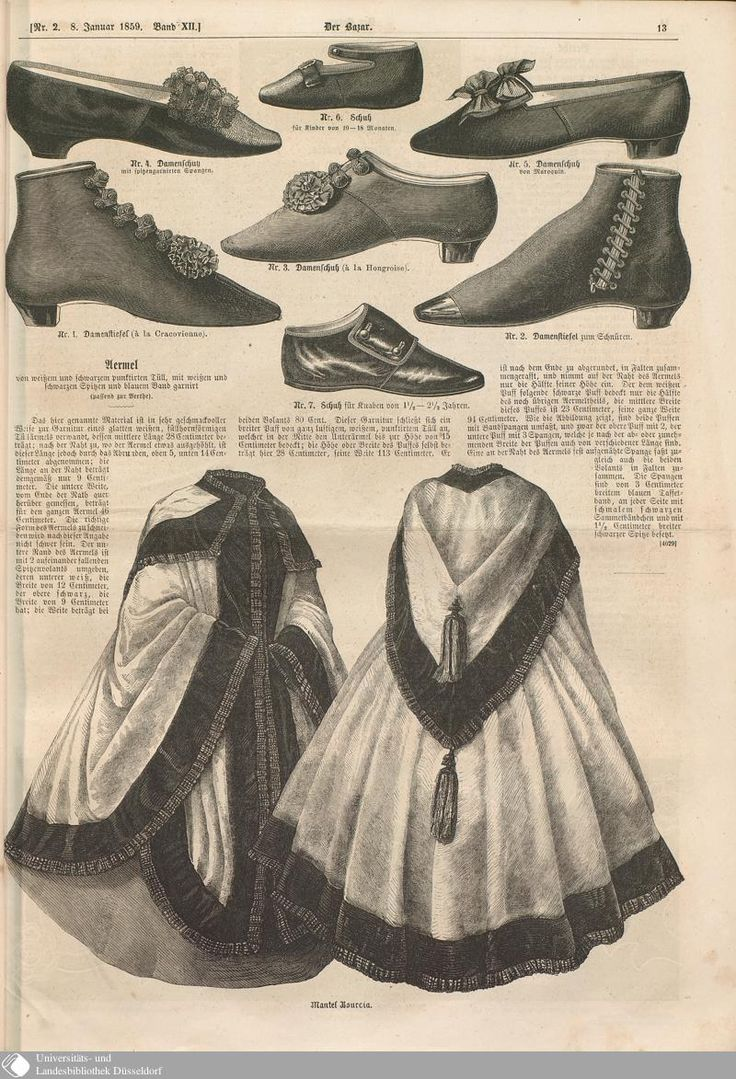1859 Der Bazar. Shoes and boots. Clockwise from to…