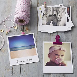 Personalised Polaroid Style Photo Cards - gifts for her