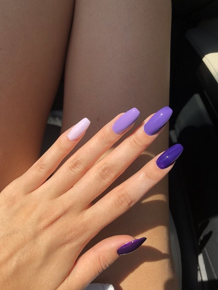 So Cute Short Acrylic Nails Ideas You Will Love Them In 2020 Violet Nails Purple Acrylic Nails Blue Acrylic Nails