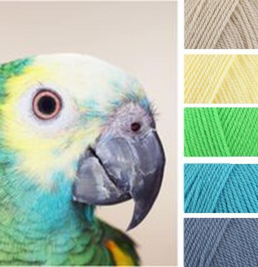 Prachtig deze combinatie: Parchment, Lemon, Bright Green, Turquoise, Denim. Meer inspiratie nodig kom langs op KNIT&KNT