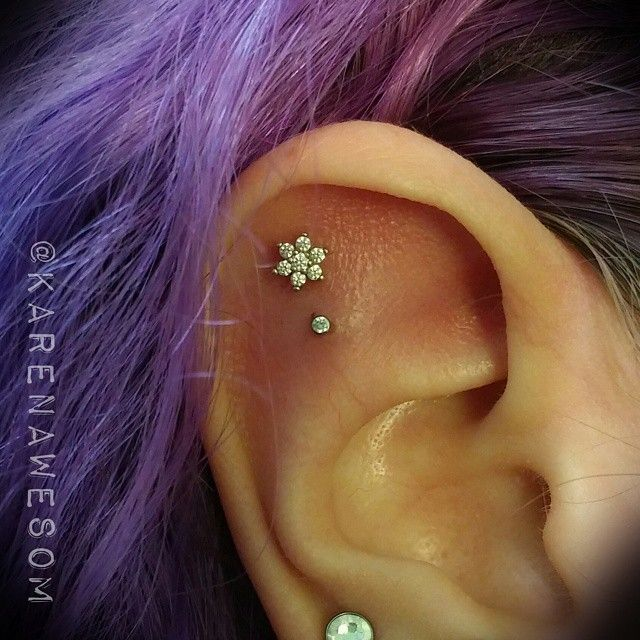 outer conch piercing - Google Search