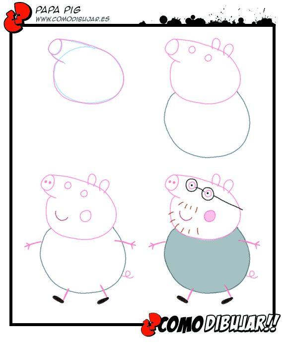 como-dibujar-papa-pig