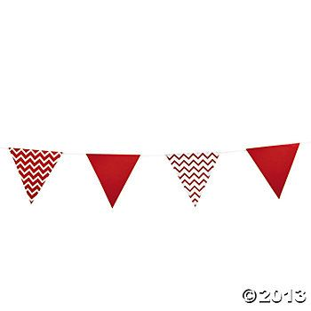 Red Chevron Pennant Banner - Oriental Trading