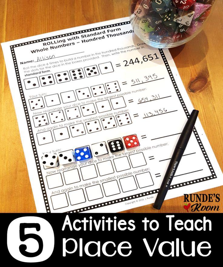 262 Best Place Value Images On Pinterest School Math Activities