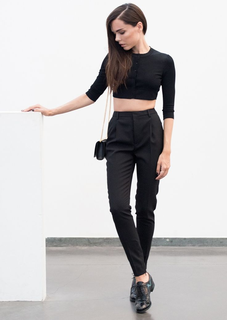 black cigarette pants | @andwhatelse