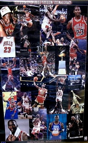 Michael Jordan Poster~ Rare Original Vintage Poster      Approx 22 x 34 In.      Great for a gift or to decorate.      High Quality Poster Print.      Great wall Decor