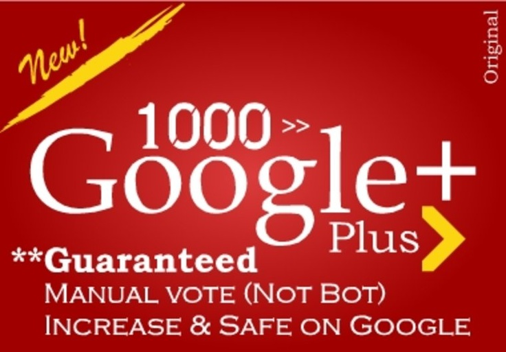 Ching Ching! get you 1000 google +1 PLUS one votes to seo rock up your high rank on google on fiverr.com