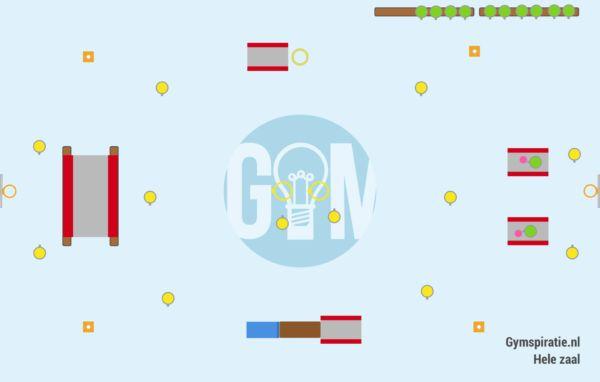 Hinderniswerpbal - Een leuke variatie op slagbal voor in de zaal.