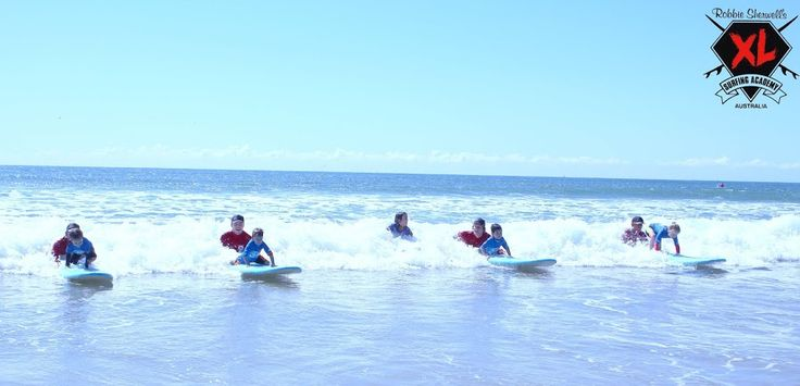 Surf lessons are popular on the Sunshine Coast