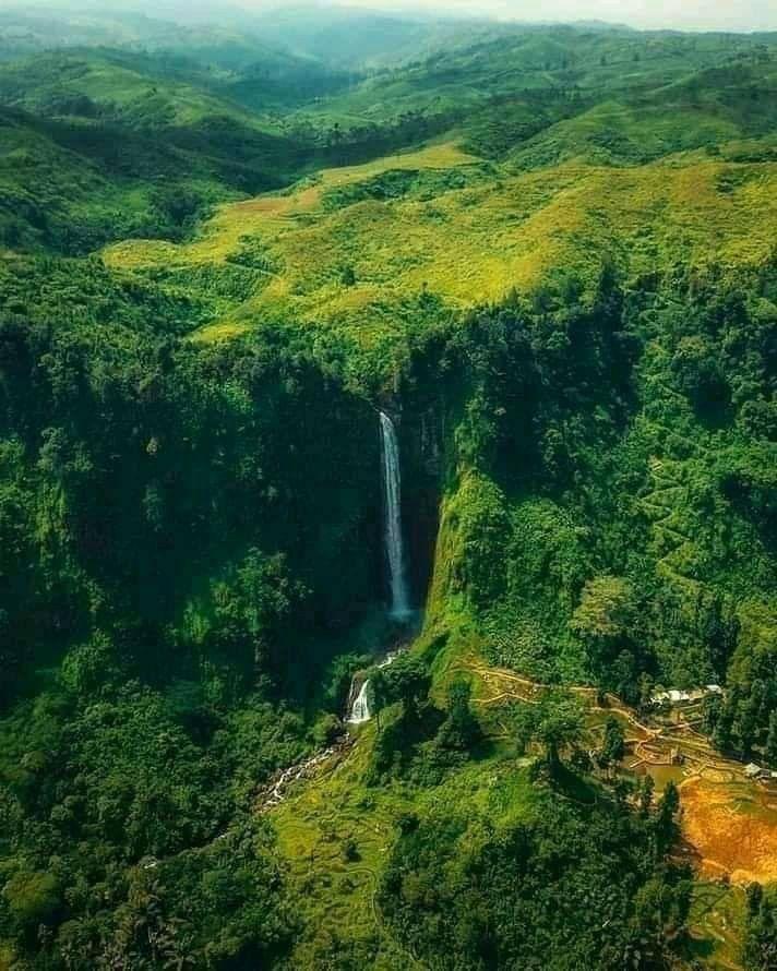 Citambur Waterfall Pedesaan Indonesia