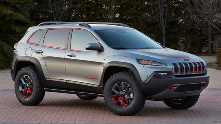 2015 Cherokee shown lifted, but you probably can't get MOPAR parts to do it because it would require a new suspension. Shame.