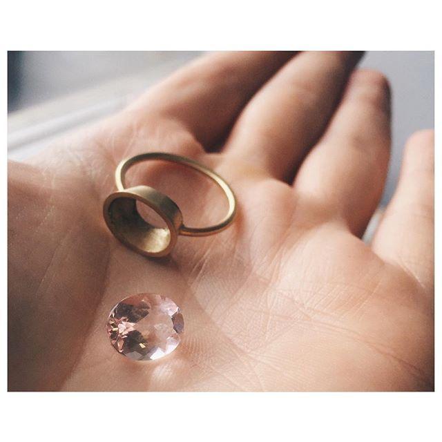 Aimée hard at work in the workshop today. Time to set this enormous Morganite for a very special one-off  #morganite #workshop #ovalcut #recordtheprocess #llj #lauraleewedding #jewellery #bridal #handmade #jewelry #jewelrygram #jewelrydesign #london #sevendials #ukdesigner #gem #gemstones #preciousstones #love #rings #wedding #bridal #engagement #engagementring