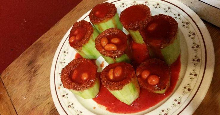 Fabulosa receta para Pepinos locos. Estos pepinos locos estan bien sabrosos la cantidad de los ingredientes es al gusto si les gusta el picante usen mucha salsa valentina.