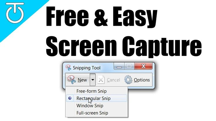 Free & Easy Screen Capture - Windows Snipping Tool