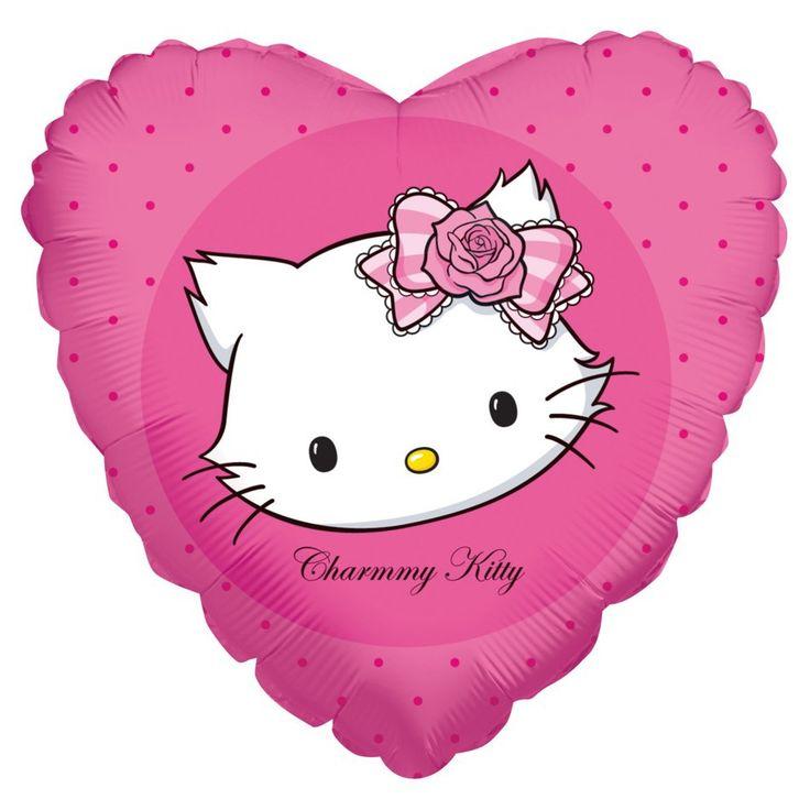 Fóliový balónek Kitty srdce 45cm   BALONKY .CZ