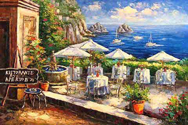 Italian Cafe Paintings Italian Amp Mediterranean Oil