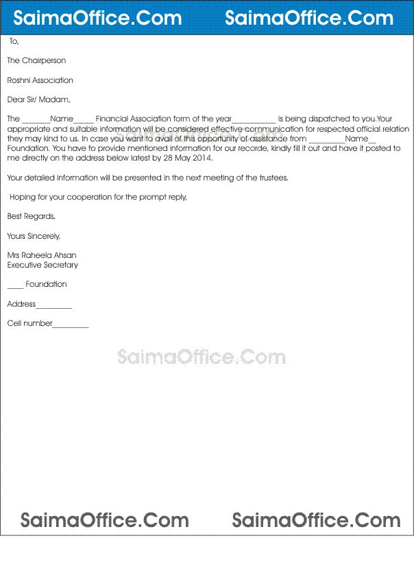 Letter For Financial Assistance Sample Write A Letter To Your Boss Asking For Financial Assistance