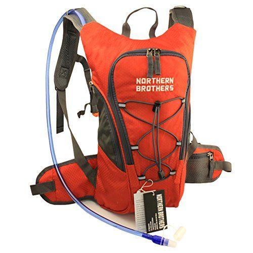 Lightweight Hydration Backpack Bladder Pack Daypack with 3 Liter 100 oz Reservoirs Water Bladder Bag for Hiking, Running, Camping, Climbing, Cycling, Walking, Hunting (Orange Backpack   3L Bladder) Visit the image link more details.