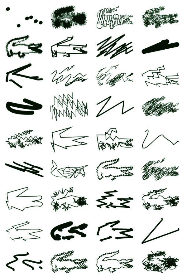 polo-lacoste-peter-saville-003 - Graphic DesignLe graphiste a préféré s'amuser avec le logo emblématique de la marque : le crocodile vert. Ce dernier a été détourné de façon ludique et décalée : du floutage au gribouillage en passant par un total relooking.