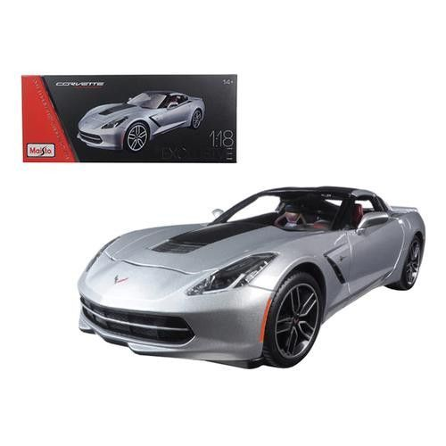 2014 Chevrolet Corvette Stingray C7 Z51 Silver Exclusive Edition 1/18 Diecast Model Car by Maisto