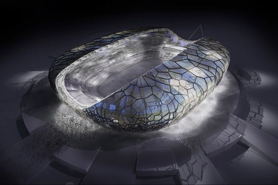 populous : main stadium for 2014 winter olympic games in sochi, russia  #architecture - ☮k☮