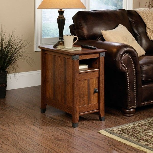 furniture amazing end table ideas living room from washington cherry furniture using oil rubbed bronze cabinet knobs and pulls under lighted vase lamp shades also ceramic coffee mugs