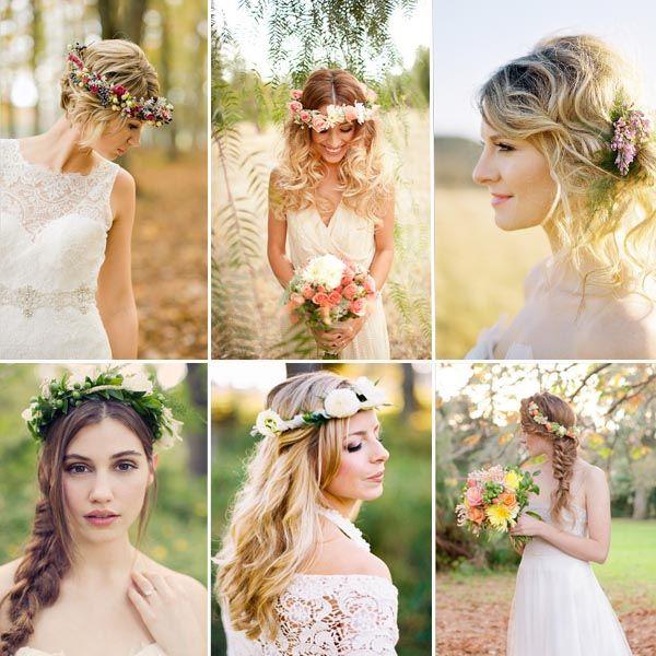 romantisch Brautfrisur Blume im Haar Hochzeitsfrisur Hochzeit Brautfrisur Style: Romantische Blume im Haar