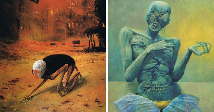 Polish Artist's Collection Of Surreal Paintings And The Story Of His Life | Bored Panda
