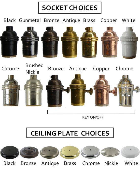 Any Color Custom Pendant Lighting Bare Bulb by HangoutLighting