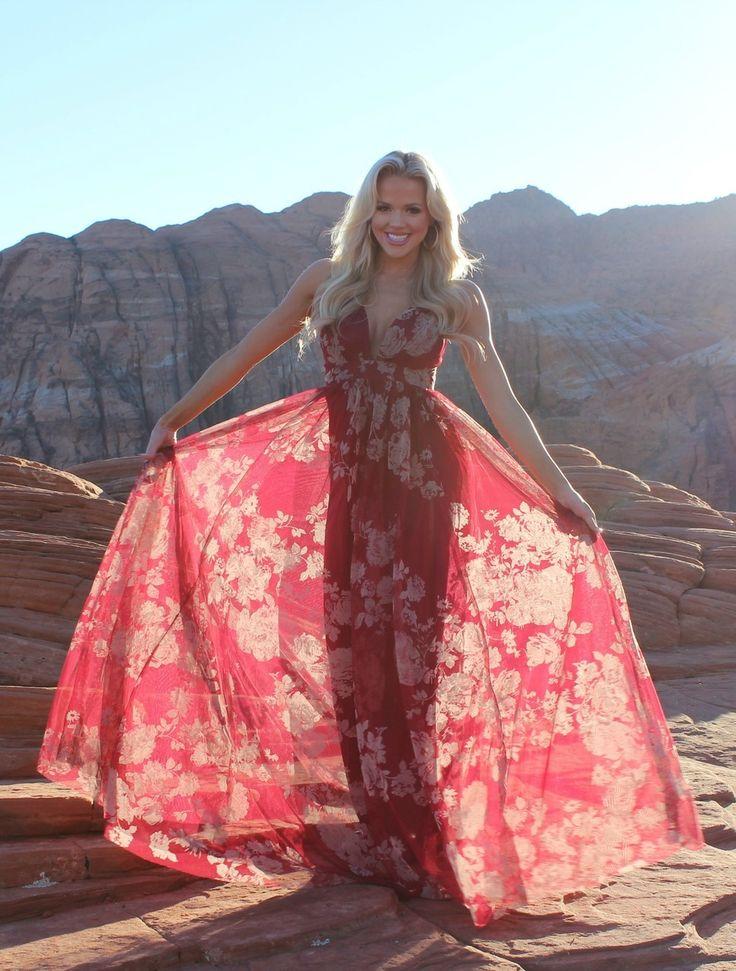 Floral Gorgeous Flowy Sheer Maxi Gown Wine, Gown, Long Dress, Dress, Shopmvb, Women's Boutique, Online Shopping, Fashion, Style,  Modern Vintage Boutique
