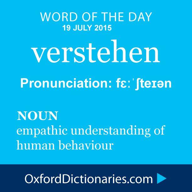 verstehen definition