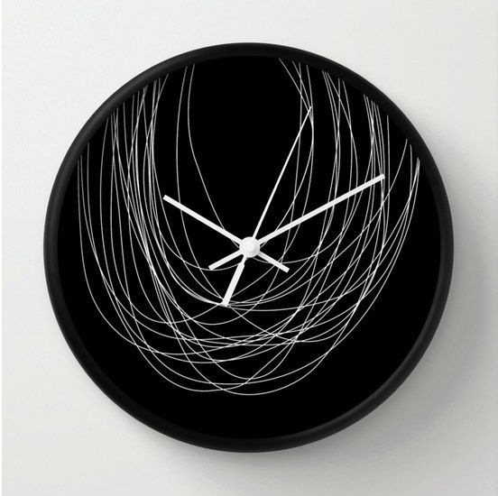 Horloge murale abstraite, horloge design, horloge minimaliste, horloge ...