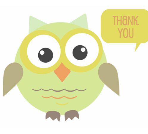 Thank You Card Printables with adorable owl!