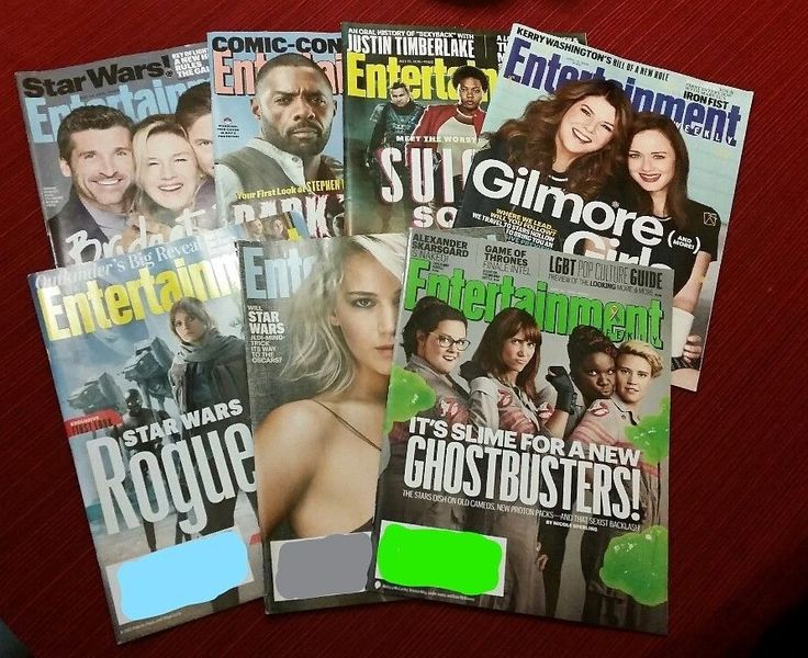 ENTERTAINMENT WEEKLY 7 MAGAZINE LOT INCLUDING GHOSTBUSTERS/ROGUE ONE/DARK TOWER