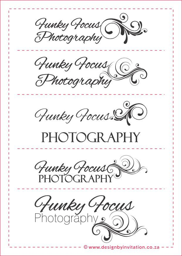 Funky Focus Photography Australia Logo Options © www.designbyinvitation.co.za