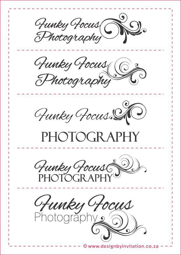 Funky Focus Photography Australia Logo Options © www.designbyinvitation.co.za