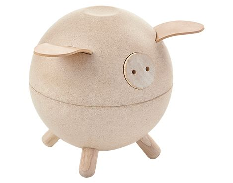 plan toys Piggy Bank-White  This simple and beautiful piggy bank will help your child learn financial disclipine and encourage mathematical, fine motor and social skills.