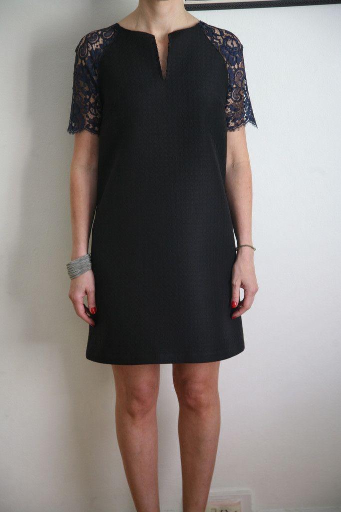Darcia Ardoise/Noir Lace - Lace - Tessuti Fabrics - Online Fabric Store - Cotton, Linen, Silk, Bridal & more