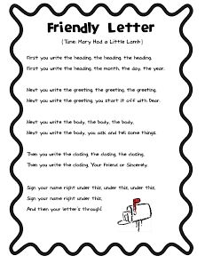 prompts for writing a friendly letter
