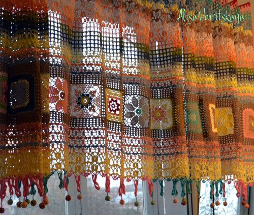 Curtains Ideas crochet curtain patterns valances : 17 Best images about Crochet curtains on Pinterest | Curtain ...