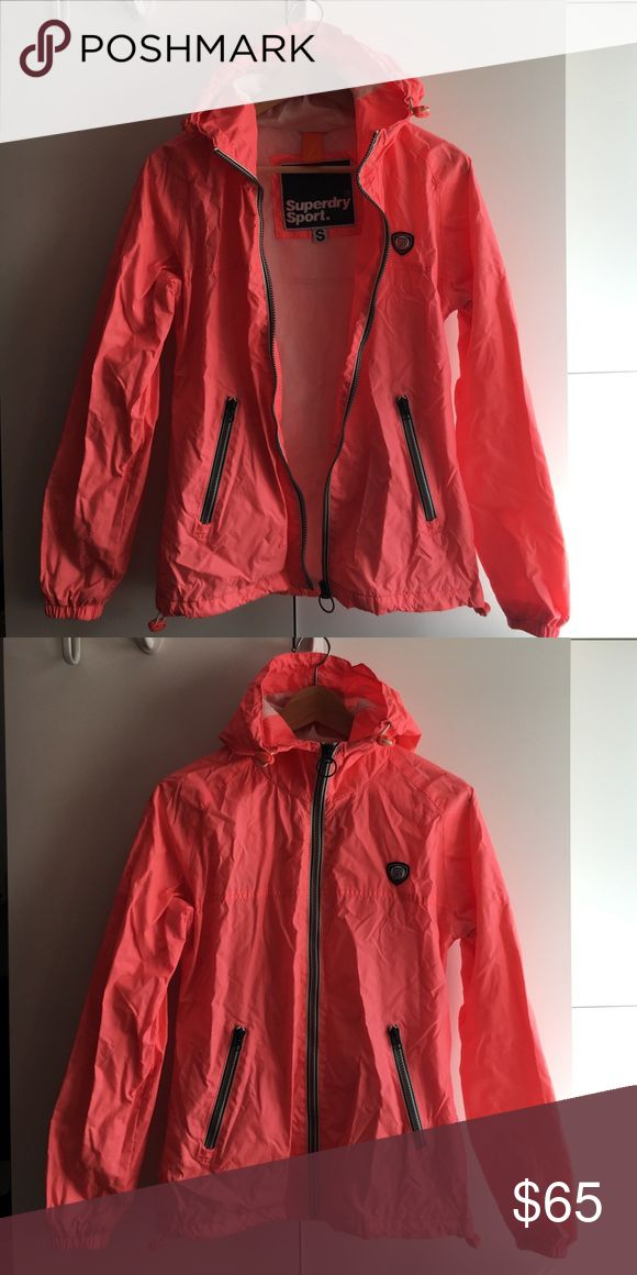 SUPERDRY sport hot pink jacket Price is non negotiable. No trades. Image looks a bit wrinkled but I only wore this 2x. Water repellant, not water proof. Mesh lining and thin jacket. Superdry Jackets & Coats Utility Jackets