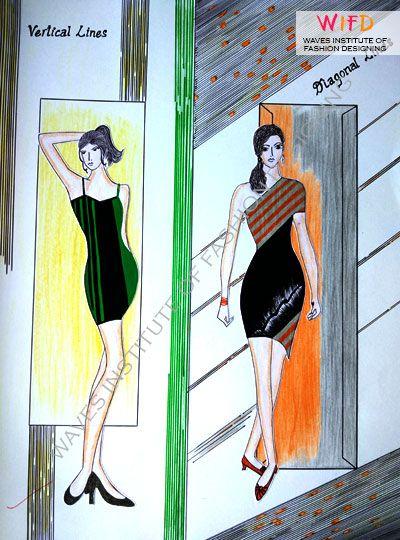 Illusion Of Vertical And Diagonal Lines Concept Design Design Fashion